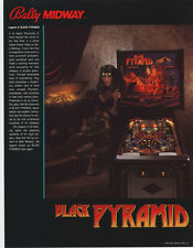 1984 BALLY MIDWAY BLACK PYRAMID PINBALL FLYER