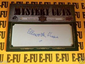 2008 SP Legendary Cuts ELLSWORTH VINES Signed RARE Autograph Tennis Auto #ed 2/2