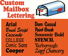 Custom Vinyl Lettering For Mailboxes Decal Sticker