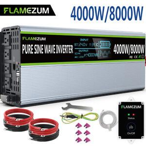 4000W/8000W Solar Power Inverter DC 24V To 110V 120V AC Pure Sine Wave LCD&Remot