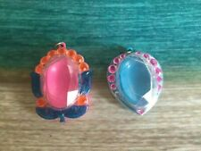 LIDDLE KIDDLES KIDDLES JEWELRY HTF FLOWER & HEART NECKLACE CASES