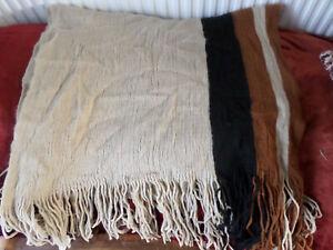 Ladies Zara Beige Camel Knitted Wrap Shawl Pashmina