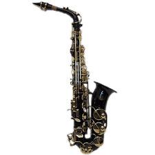HOLIDAY SALE Black/Gold Alto Saxophone w Wonderful Versatile Case *GREAT GIFT*
