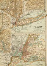 1903 ANTIQUE MAP SOUTHERN NEW YORK CITY PLAN BROOKLYN JERSEY CITY RICHMOND
