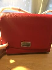 Oroton Red Leather Satchel Style Crossbody Handbag Comes With Dust Bag