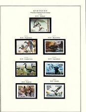 STATE OF KENTUCKY HUNTING PERMIT STAMPS 1985-2004 MOUNTED ON 3 PAGES BT6305
