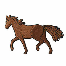 Embroidered Brown Horse Equestrian Animal Sew or Iron on Patch Biker Patch