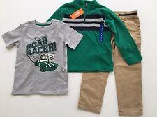 NEW Gymboree Toddler Boys Size 6 Shirt Pants Sweater 3-piece Set