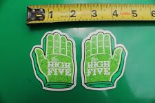 The High Five Green Hands Weed Cannabis Marijuana Misc Music Party Sticker x 2