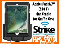 """STRIKE ALPHA APPLE IPAD 9.7"""" (2017) CAR CRADLE FOR GRIFFIN CASE BUILT-IN CHARGER"""