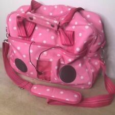 Pottery Barn Pink Polka Dot Diaper Bag