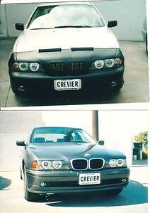 Colgan Front End Mask Bra 2pc.Fits BMW 525i 530i 540i 2001-2003 W/license W/wash