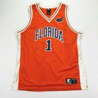 VTG Florida Gators #1 Men's Starter Basketball Jersey Orange • LARGE