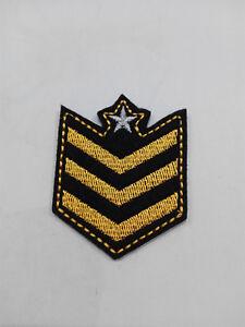 Parche bordado para coser 5/4 cm estilo MILITAR adorno ropa personalizada