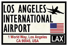 STREET / ROAD SIGNS (LOS ANGELES) - SOUVENIR NOVELTY FRIDGE MAGNET - GIFTS