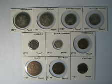 More details for 1937 proof coins. halfcrown to farthing. 10 coins from george v1 coronation set