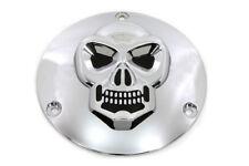 Skull Derby Cover Chrome For Harley-Davidson