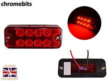 2 12V 8 LED TAIL  REAR RED MARKER INDICATOR LIGHTS LAMPS CAMPER CARAVAN