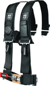 Pro Armor A114230 4-Point Harness with 3in Pads Racing Black 2in 4 Point