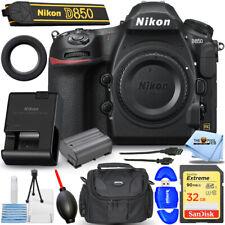 Nikon D850 Digital SLR Camera (Body Only) 1585 - Essential 32GB Case Bundle