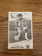 New England Patriots MIKE HAYNES Signed 4x6 Photo NFL HOF AUTOGRAPH team issued