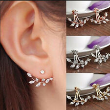 Fall Leaf Crystal Stud Earrings made with Swarovski Elements Diamante Sparkle