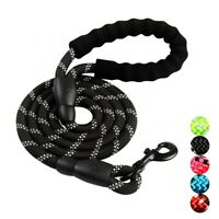 Emkay 5 FT Strong Dog Leash with Comfortable Padded Handle and Highly Reflective