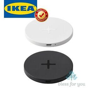 IKEA LIVBOJ Wireless Charging Slim Pad USB-C/USB with LED indicator Black White