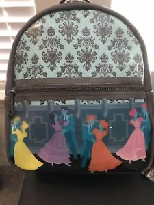 NWT Disney Loungefly Haunted Mansion Dancing Ghosts Ballroom Mini Backpack