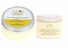 100ml + 50ml Whipped Pure Unrefined Shea Butter *Certified Organic & Grade A*