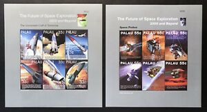 2 PALAU FUTURE OF SPACE EXPLORATION STAMPS MNH 2000 & BEYOND PROBES SPACECRAFT