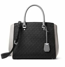 Michael Kors Bag Handbag Benning LG Satchel Grey Multi New