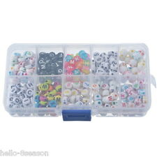 1Set Acrylic Beads DIY Kit Number Lether Jewellery Making Kit
