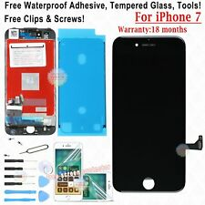TOUCH SCREEN LCD DISPLAY PER APPLE IPHONE 7 VETRO SCHERMO NERO FRAME FILM TAPE