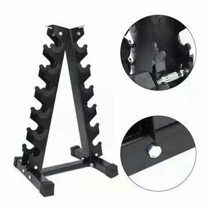 New 6 Tiers Vertical Dumbbells Hex Weight Stand Gym Home Storage Rack Holder