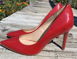 Sam Edelman Women's Hazel Pumps High Heels, Red, Tan, Size 8 Medium US