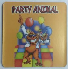 NEW WOODEN COASTER PARTY ANIMAL PACKAGED