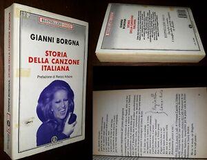 Storia della canzone italiana, Gianni Borgna, R. Arbore, 1°Ed. Oscar Mondadori