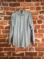 $495 Vintage Salvatore Ferragamo M 15 Italy Authentic Striped Dress Work Shirt
