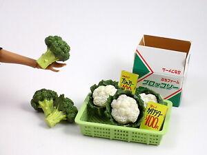 2006 Re-Ment Vegetable Market #2 Broccoli Cauliflower Barbie Food Supermarket
