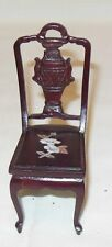 ROSEWOOD DINING ROOM CHAIR INLAID  MOTHER OF PEARL DOLLHOUSE FURNITURE