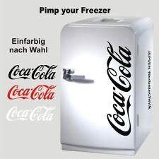 Coca Cola Aufkleber 60cm für Kühlschrank Kühltruhe oder Tür Farbwunsch