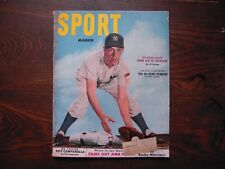 1952 Sport Magazine March McDougald Ruth Hornsby Foxx Campanella Howe Groat VG