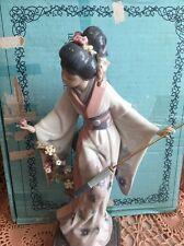 Lladro 1451 Teruko Retired! Missing 1 Petal/Small Chip Dress! Original Blue Box
