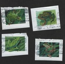 #5395-8 Frogs, Used Set of 4, Forever, On Paper