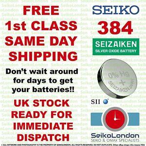 1X Seiko Seizaiken 384, SR41SW, SR41, SR736,1.55v Battery FREE 1st class post