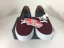 Vans burgundy color canvas Solana ultra cush skate shoes sneakers Women 5.5 New