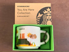 NEW You Are Here Starbucks Coffee Greece Ornament YAH City Mug Espresso RARE