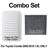 For Corolla 09-2019 2012 2013 2014 2015 2016 1.8L Cabin Engine Air Filter