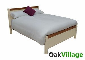 Painted Double Bed / Bedroom Furniture / Oak 4ft 6 Bed Frame / New /Solid Walcot